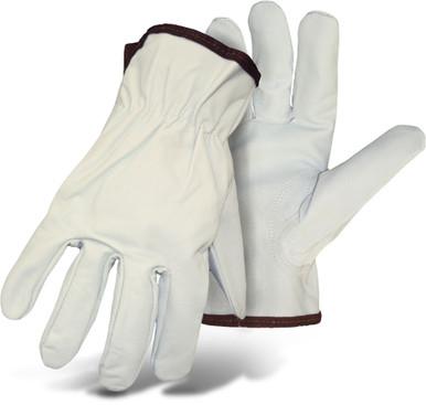 BOSS Goatskin Leather Palm Safety Gloves, Unlined