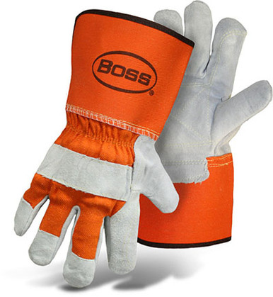 BOSS Double Leather Palm Glove w/ Gauntlet Cuff