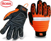 BOSS Orange Mechanic-Style Miner Protective Glove