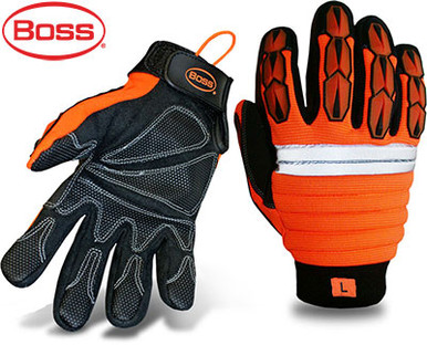 BOSS Orange Mechanic-Style Miner Protective Glove