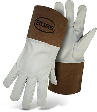 BOSS TIG Welder Gloves, Kidskin Leather