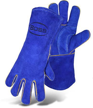 BOSS Premium AirFoam Lined Cowhide Welder Gloves