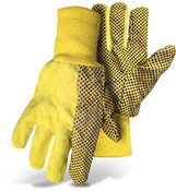 BOSS Yellow w/ Blue Poly Dot Chore Gloves