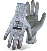 BOSS Extreme Plus PU Palm Coated Gloves Over Cut Level 5 Synthetic String, Size Large (12 Pair)