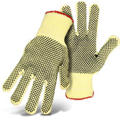 Reversible Cut Resistant Aramid String Knit w/ Dotted Palm & Back, Size Large (12 Pair)