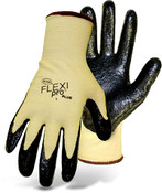 Boss Flexi Pro Plus Cut Resistant Aramid Knit Gloves w/ Nitrile Coated Palm, Size Medium (12 Pair)