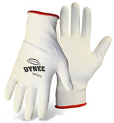 BOSS Dynee White HPPE Blend Cut Resistant Gloves w/ PU Coated Palm & Fingers, Size Medium (12 Pairs)