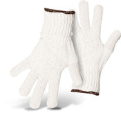 BOSS 80/20 Cotton/Poly Bleached White String Knit Safety Gloves, Size: Small (12 Pair)