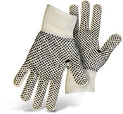 BOSS Reversible String Knit Gloves w/ PVC Dotted Palm & Back, Size Small (12 Pair)