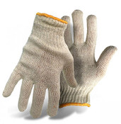 BOSS 60/40 Cotton/Poly Natural Color String Knit Gloves, Size Small (12 Pair)