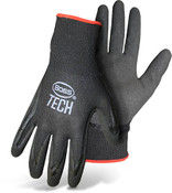 BOSS Black Nylon Knit Glove w/ Double Dipped Foam Nitrile Coated Palm, Size Small (12 Pair)
