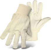 BOSS Natural Color 8 oz Poly/Cotton Flannel Gloves, Size Large (12 Pair)