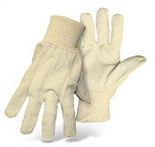 BOSS 12 oz. 100% Cotton Safety Gloves, Knit Wrist, One Size (12 Pair)