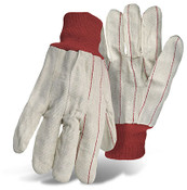 BOSS 18 oz. Double Palm Canvas Gloves, Knit Wrist, One Size (12 Pair)