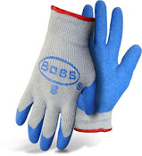 BOSS String Knit Gloves w/ Latex Coated Palm & Fingers, Size Large (12 Pair)