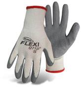 BOSS FLEXI Grip String Knit Gloves w/ Latex Coated Palm, Crinkle Grip, Size Medium (12 Pair)
