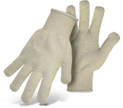 BOSS Medium Weight Natural Terry Cloth Cotton Gloves, Size Large (12 Pair)