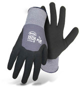 Boss Nylon Knit Glove w/ Sandy Foam Nitrile Coated Palm and 3/4 Back, Size Large (12 Pair)