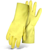 "BOSS 15 Mil Flock Lined Latex Glove, 12"" Cuff, Size Medium (12 Pair)"