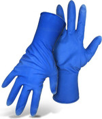 15 Mil Unlined, Powder-Free Blue Disposable Latex Gloves, Size X-Large (500/Case)