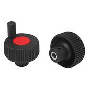 "Kipp .250"" (ID) x 40 mm (D) Novo-Grip Positioning Wheels, Size 1, Style M, Yellow (10/Pkg.), K0262.11CM7"