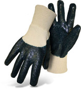Economy Dipped Nitrile Gloves, Partially Coated Rough Grip, Size Large (12 Pair)
