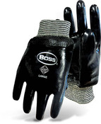 BOSS Fully Coated Heavyweight Neoprene Gloves, Smooth Grip, Large (12 Pair)