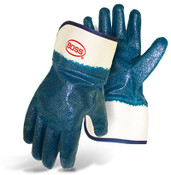 Economy Dipped Nitrile Gloves, Rough Fully Coated, Safety Cuff, Size Large (12 Pair)