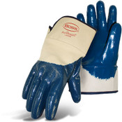 Economy Dipped Nitrile Partially Coated Smooth Grip Gloves, Safety Cuff, Size Large (12 Pair)