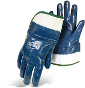 Economy Dipped Nitrile Fully Coated Smooth Grip Gloves, Safety Cuff, Size Large (12 Pair)