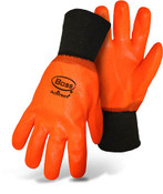 BOSS Orange PVC Wet Grip Foam Lined Gloves w/ Knit Wrist, Size Large (12 Pair)