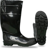 BOSS Over-the-Sock PVC Knee Boot, Black, Size: 6 (1 Pair)