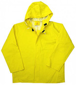 Yellow 50mm PVC Poly Lined Rain Jacket, Size: 3XL (3 Jackets)