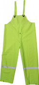 High-Vis Green 35mm PVC Poly Lined Overall w/ Reflective Trim, Size: 3XL (3 Overalls/Pkg.)