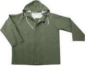 Green 50mm PVC Poly Lined Rain Jacket, Size: 3XL (3 Jackets/Pkg)