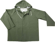 Green 50mm PVC Poly Lined Rain Jacket, Size: Large (5 Jackets/Pkg)