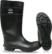 """BOSS 16"""" Economy PVC Knee Boot, Plain Toe, Size: 8 (1 Pair)"""