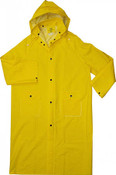 "48"" 35mm Yellow PVC Trench Rain Coat, Poly Lined, 5XL (3 Coats)"