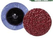 "Quick Change Discs - Aluminum Oxide - 2"" Type R, Grit: 180, Mercer Abrasives 390218 (50/Pkg.)"