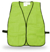 Economy Poly-Mesh Fluorescent Green Safety Vest, One Size Fits Most (12 Vests)