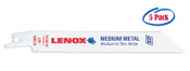 Lenox 3-5/8 x 5/16 x .035 Metal Cutting Reciprocating Saw Blades, 14 TPI (5/Pkg.)