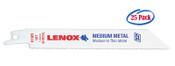 Lenox 6 x 3/4 x .035 Metal Cutting Reciprocating Saw Blades, 14 TPI (25/Bulk Pkg.)