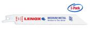 Lenox 3-5/8 x 5/16 x .035 Metal Cutting Reciprocating Saw Blades, 18 TPI (5/Pkg.)