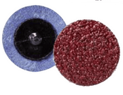 "Quick Change Discs - Aluminum Oxide - 3"" Type R, Grit: 80, Mercer Abrasives 390308 (25/Pkg.)"