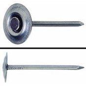 "3"" 8-Gauge Metal Round Cap Masonry Nails, Fluted Shank (50 lb./Carton), Grip Rite #3RTFMS25"