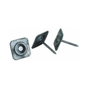 "2"" 12-Gauge Grip-Cap Square Metal Cap Nails, Ring Shank (30 lb./Carton)"