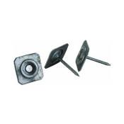 "2-1/2"" 11-Gauge Grip-Cap Square Metal Cap Nails, Ring Shank (30 lb./Carton)"