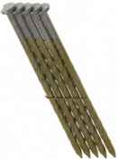"3-1/4"" x .120"" 28-degree Wire Weld Offset Round Head Nails, HDG, Screw Shank (2,000 Pcs./Box), Grip Rite #GRS12DSHG"