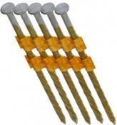 "3"" x .120"" 21-Degree Plastic Strip Round Head Nails - Bright Coated, Screw Shank (4,000 Pcs./Box), Grip Rite #GR3120S"