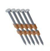 "3"" x .131"" 21-Degree Plastic Strip Round Head Nails - 316 Stainless, Screw Shank (1,000 Pcs./Box), Grip Rite #MAXC62896"